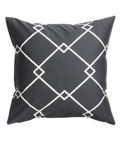 Kuviollinen tyynynpäällinen | Antrasiitinharmaa | Home | H&M FI