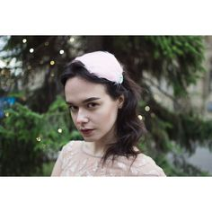 Blush Light Pink Silver Feather Fascinator Headband Vintage 1920s... ($13) ❤ liked on Polyvore featuring accessories, hair accessories, grey, headbands & turbans, fascinator hats, 1920s feather headband, rhinestone headbands, headband fascinator and headband hair accessories