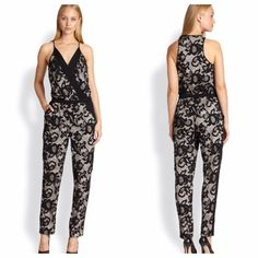 Diane von Furstenberg Shany Floral Lace Jumpsuit 6 New with original tags, purchased from Nordstrom. 100% authentic. As seen on countless celebs and in the sex and the city Carrie diaries. Fits true to size size 6. Hope you love it as much as we do -xo Diane von Furstenberg Pants Jumpsuits & Rompers