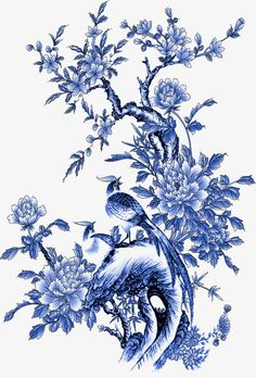 Flowers More than 3 million PNG and graphics resource at Pngtree. Find the best inspiration you need for your project. Chinese Painting, Chinese Art, Delft, Fleurs Art Nouveau, Chinese Patterns, Blue Pottery, Blue And White China, Tile Art, Blue Flowers