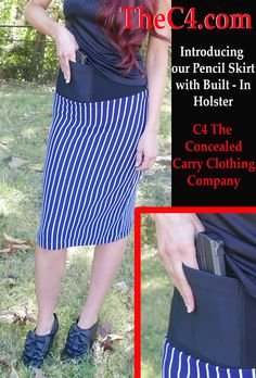 5499c8d8383e6 Pencil Skirt. Concealed Carry ClothingConcealed ...