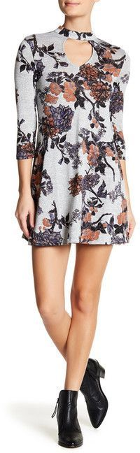 Living Doll Floral Gigi Neck Sweater Dress
