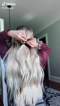 Easy Hairstyles For Long Hair, Girl Hairstyles, Braided Hairstyles, High School Hairstyles, Hair Up Styles, Medium Hair Styles, Aesthetic Hair, Aesthetic Makeup, Hair Videos