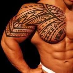 Tribal Tattoo For Men Shoulder, For More, Visit - http://goo.gl/Yl8ztA