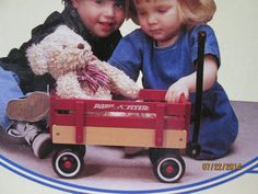 Vintage New In Box Radio Flyer Little Wood Wagon Model by chulapoe, $32.00