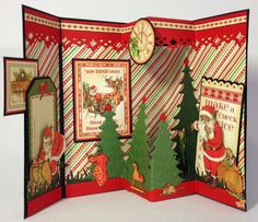 Graphic 45 Twas the Night Before Christmas envelope pop up 3D card by Anne Rostad