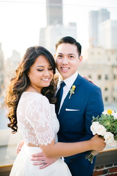 Los Angeles rooftop wedding - photo by Jenna Bechtholt http://ruffledblog.com/los-angeles-rooftop-wedding