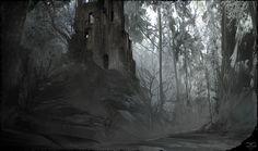 CGTalk - Forest Ruins, Daniel Schmelling (2D)