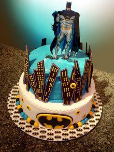batman 2 tier cake