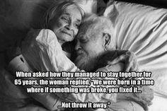 If its broken, fix it. ... Marriage