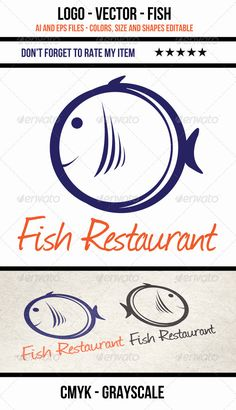 Fish Vector Logo Design Template Vector #logotype Download it here: http://graphicriver.net/item/fish-logo-vector/3589671?s_rank=1387?ref=nexion