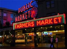 Pikes Place Market, Seattle, Washington. First Starbucks, and the most amazing chowder I have ever eaten.