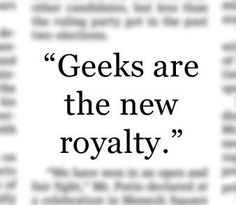 Geek love for life!