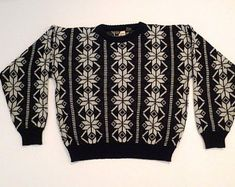 16d7327702 Southwest Sweater Vintage Liberty Knits Jewel Tone Pullover Sweater ...
