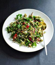 Puffed rice salad with green chilli chutney and crab recipe, Adam D'Sylva, Tonka, Melbourne, Gourmet Institute :: Gourmet Traveller