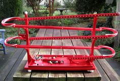 marble run wooden toy ~ the BIG red Super Sold Old Fashioned Toys, Wooden Toys, Whimsical, Two By Two, Marble, Woodworking, Big, Etsy, Wooden Toy Plans