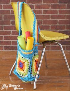 Bright Market Bag - Free Crochet Pattern - (yarnspirations)
