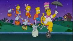 "The Simpsons present: ""The Fat In The Hat"" starring Homer Simpson, Bart Simpson, Lisa Simpson and of course, Maggie Simpson"