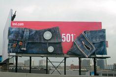 A giant pair of Levi's 501 jeans, on a San Francisco billboard.
