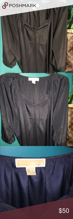 Michael Kors Blouse Navy blue blouse, loose fitting, great condition, worn once MICHAEL Michael Kors Tops Blouses