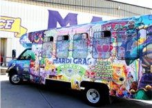 Mardi Gras World offers a complimentary shuttle, with designated pick-up from downtown New Orleans and in the French Quarter, making it easy to get here.