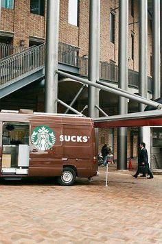 Advertising gone wrong.... Example Starbucks. (still love the brand).