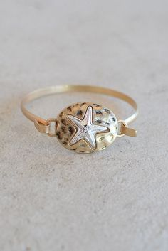 Gold and Silver Starfish Bracelet