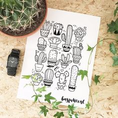 Cactus  pattern  #pattern #baspetter . #sketchbook #illustrator #illustrationoftheday #instagood #sketch #drawingoftheday #linedrawing  #vector #illustration #drawing #creative #surfacepro #illustrator #adobe . #cactus #plantlife #plants #planten
