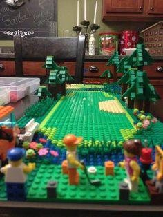 Lego golf course - watch out for the chair hazard!