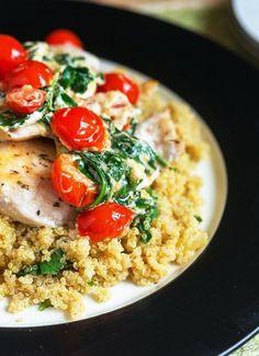 Low FODMAP & Gluten free Recipe - Chicken & tomato quinoa  http://www.ibssano.com/low_fodmap_recipe_chicken_tomato_quinoa.html