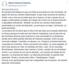 Maria Victoria Cardona Hansel Y Gretel, Victoria, February 9, Early Childhood, Short Stories, Reading, Words, Art
