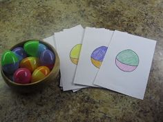 Plastic Easter Egg Matching Game  *and a great hide and seek game