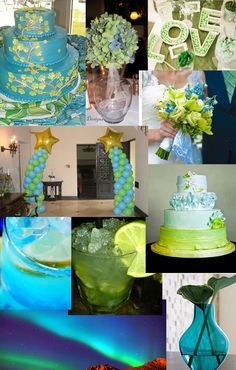 Malibu Blue and Lime Green | posted by rose giffen weddingzilla at 2 23 pm email this blogthis ... Desi