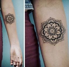 Forearm mandala tattoo - Women Tattoo How to Care for a New Color Tattoo – Forearm mandala tattoo Forearm Mandala Tattoo, Small Mandala Tattoo, Hand Tattoo, Mandala Tattoo Design, Forearm Tattoos, Body Art Tattoos, Girl Tattoos, Tattoos For Guys, Tattoo Designs