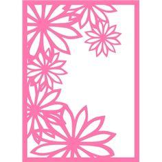 Silhouette Design Store - View Design #30835: floral filigree card frame