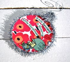 Have Yourself a Groovy Little Christmas - Gazoo - the Flinstone's Favorite Martian Hand Made Collage OOAK Christmas Ornament. $8.00, via Etsy.