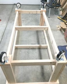 garage workshop This DIY Garage Workbench is the perfect mobile, multifunctional build to organize your garage and complete your projects all in one space.