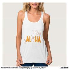 Aloha women's tank top (orange)