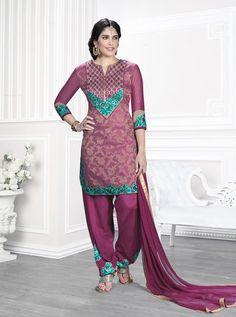 Fancy Patiyala   Unstiched   Salwar Suit