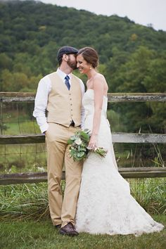 beautiful rustic couple in asheville nc. This isn't us but my hubby & I were  married on a mountain top in Asheville. Soooo romantic!