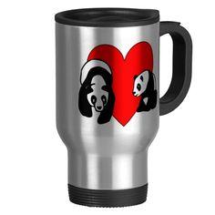 Panda Bear Love Mugs