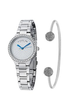 Stuhrling, Set de ceas si bratara - 2 piese, Argintiu Bracelet Watch, Watches, Bracelets, Silver, Accessories, Wristwatches, Clocks, Bracelet, Arm Bracelets