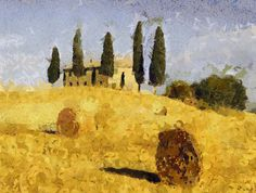 Italy Painting PRINT Landscape Toscana Art by AnnasDigitalArtDeco Italy Painting, Modern Art Prints, Printable Art, Painting Prints, Digital Prints, Cool Designs, Original Art, Art Deco, Wall Art