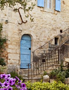 Blue door in Lacoste, Provence France. © Brian Jannsen Photography