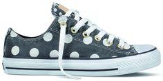 Converse in beluga grey polka dot