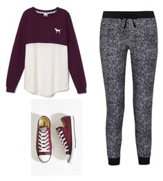 """Untitled #17"" by prty1999 on Polyvore featuring Victoria's Secret, Splendid and Converse"