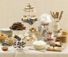 DIY Gourmet S'mores Bar and S'mores inspired desserts