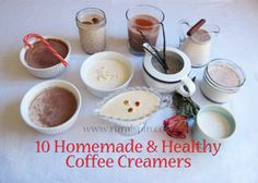 10 Homemade & Healthy Coffee Creamers