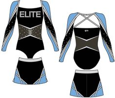 Elegant audacity, contrasting color combinations, and a sleek fit set these All Star cheer uniforms worn by Jersey Elite apart from the rest. Kids Uniforms, Sports Uniforms, Team Uniforms, Cheer Coaches, Cheer Stunts, Cheerleading Uniforms, Cheerleading Outfits, All Star Cheer Uniforms, Cheer Team Pictures