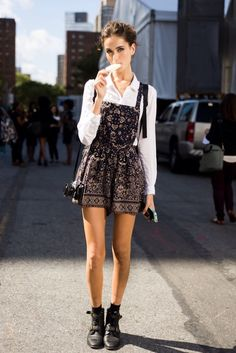 super cute romper. #offduty in NYC.